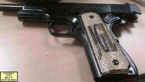 El Chapo's diamond-encrusted pistol