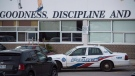 Toronto police respond to a bomb threat at St. Michael's College School, in Toronto on Monday, Nov. 19, 2018. Six teens have been arrested and charged in connection with an alleged sexual assault at an all-boys private school in Toronto, police said Monday as they warned additional charges could follow an investigation into other incidents. THE CANADIAN PRESS/ Tijana Martin