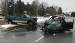 A collision claimed the life of one man east of Stratford on Tuesday.