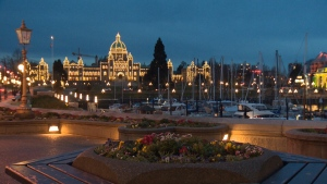 The B.C. Legislature in Victoria is shown in this undated file photo.