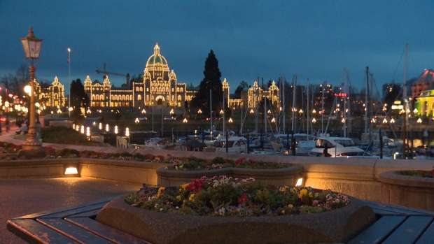 The B.C. Legislature in Victoria is shown in this undated file photo.