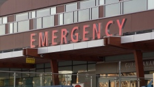 The emergency entrance at Surrey Memorial Hospital is seen in this undated file image.
