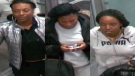Police released these images of three women wanted in connection with a perfume heist in Simcoe County. (Barrie Police handout)