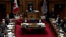 The B.C. Legislature voted unanimously to suspend a legislature clerk and sergeant-at-arms pending an undisclosed investigation. Nov. 20, 2018. (Question Period)