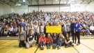 Essex District High School is getting $100,000 from the Aviva Community Fund in Essex, Ont., on Tuesday, Nov. 20, 2018. (Michelle Maluske / CTV Windsor)