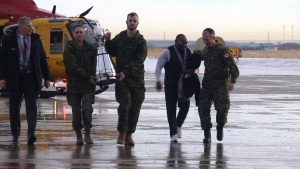 The military received the Grey Cup at CFB Edmonton on Tuesday, November 20, 2018.