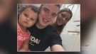 Bradley Pogue (centre) with daughter Zaelynn and mother Hayley Schultz. (Courtesy: Hayley Schultz)