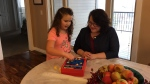 Evie Muir, seven, has been diagnosed with Rett syndrome (Taylor Rattray / CTV Regina)
