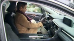 Lee Welbanks gets in the driver's seat of his Lexus RX 350, which was recovered after it was stolen.