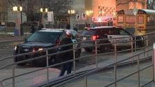 LRT pedestrian trapped