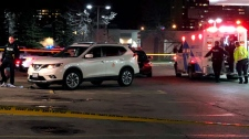 The scene of a shooting in the city's Jane and Finch neighbourhood is seen. (Peter Muscat)