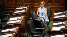 Ontario Liberal MPP Kathleen Wynne is seen as the legislature sits inside Queens Park in Toronto on Saturday, Sept. 15, 2018. THE CANADIAN PRESS/Cole Burston