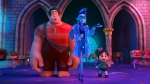Ralph, voiced by John C. Reilly , centre left, and Vanellope von Schweetz, voiced by Sarah Silverman in a scene from 'Ralph Breaks the Internet.' (Disney via AP)