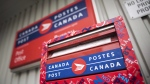 A mailbox is seen outside a Canada Post office in Halifax on Wednesday, July 6, 2016. (THE CANADIAN PRESS / Darren Calabrese)