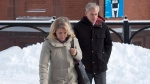 Dennis Oland and his wife Lisa arrive at the Law Courts in Saint John, N.B., on Wednesday, Nov. 21, 2018. THE CANADIAN PRESS/Andrew Vaughan