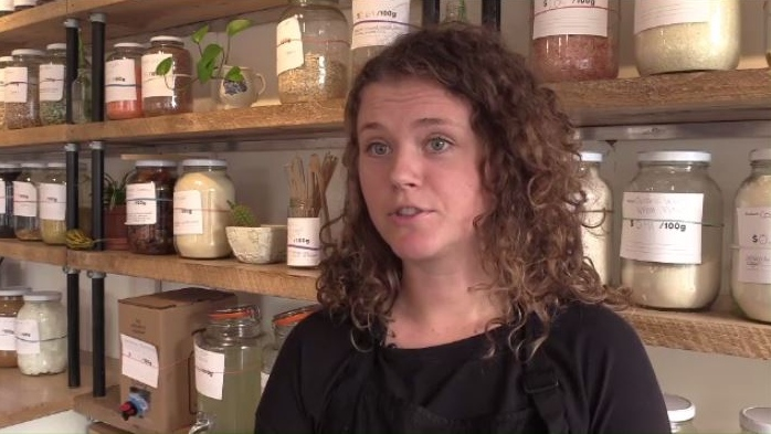 """Just in the news the other day, there was a whale that washed up with 115 pieces of plastic in its stomach,"" said Kate Pepler, the owner of Tare, a Halifax shop that is waste-free."