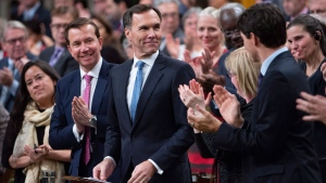 Finance Minister Bill Morneau delivers the fall economic update in the House of Commons, in Ottawa on Wednesday, Nov. 21, 2018. THE CANADIAN PRESS/Adrian Wyld