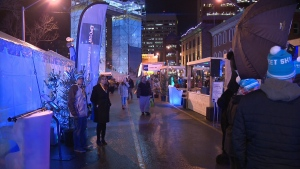 Football fans gathered in downtown Edmonton Wednesday evening, for the first day of the Grey Cup Festival.