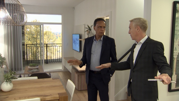Kush Panatch shows CTV News condo unit that will be sold as rent-to-own.