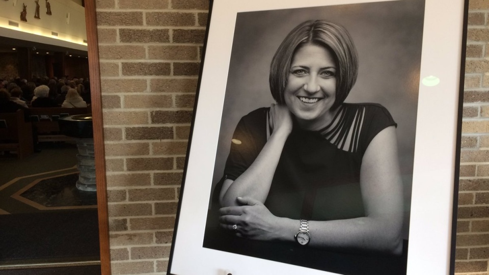 Michelle Prince is remembered at her funeral in Windsor, Ont., on Friday , Nov. 23, 2018. (Stefanie Masotti / CTV Windsor)