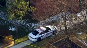 The scene of a shooting in Mississauga on Friday Nov. 23, 2018 is seen from Chopper 24.