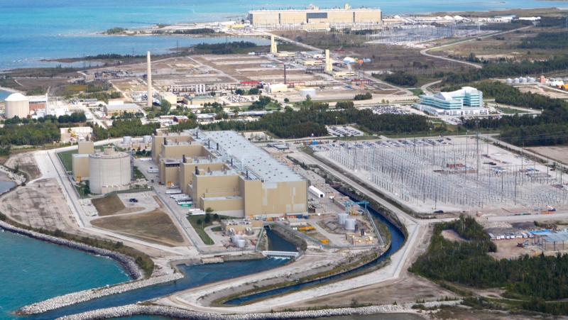 An aerial view of the Bruce Power site.