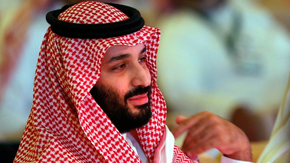 In this Oct. 24, 2018, file, photo, Saudi Crown Prince Mohammed bin Salman attends the second day of the Future Investment Initiative conference, in Riyadh, Saudi Arabia. Saudi Arabia's Crown Prince has begun a tour abroad on Friday, Nov. 23, 2018.(AP Photo/Amr Nabil)