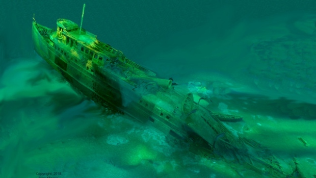 "Ninety years ago, a ship sank in Georgian Bay and was only recently uncovered in ""excellent condition"" still carrying a 1927 Chevrolet Coupe inside. (Ken Merryman, Jerry Eliason and Cris Kohl)"
