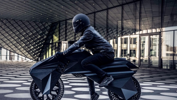 3D-printed electric motorcycle