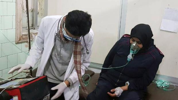 Syria state TV: 41 injured in rebel poison gas attack