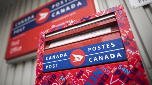 A mail box is seen outside a Canada Post office in Halifax on Wednesday, July 6, 2016. THE CANADIAN PRESS/Darren Calabrese