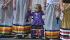 Ribbon skirt demonstration