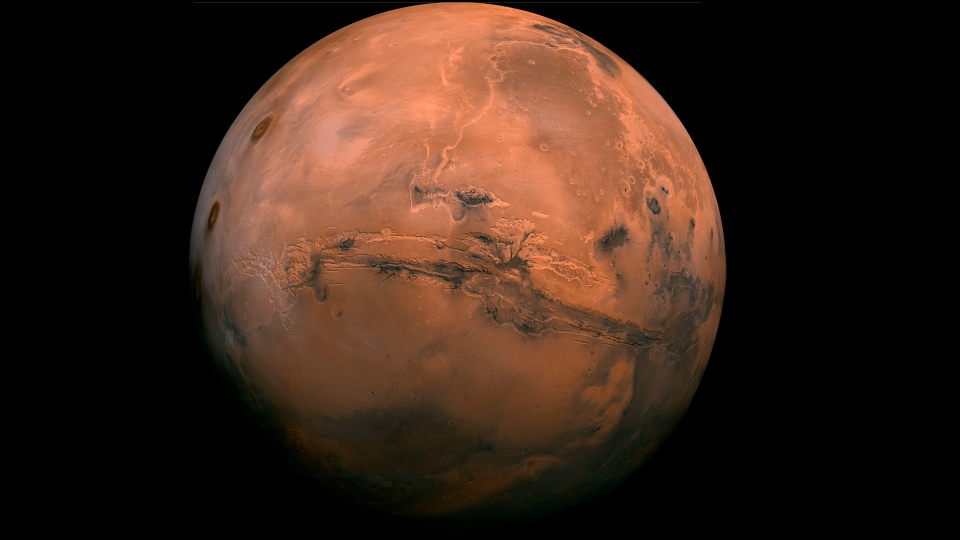 This image made available by NASA shows the planet Mars. (NASA via AP, File)