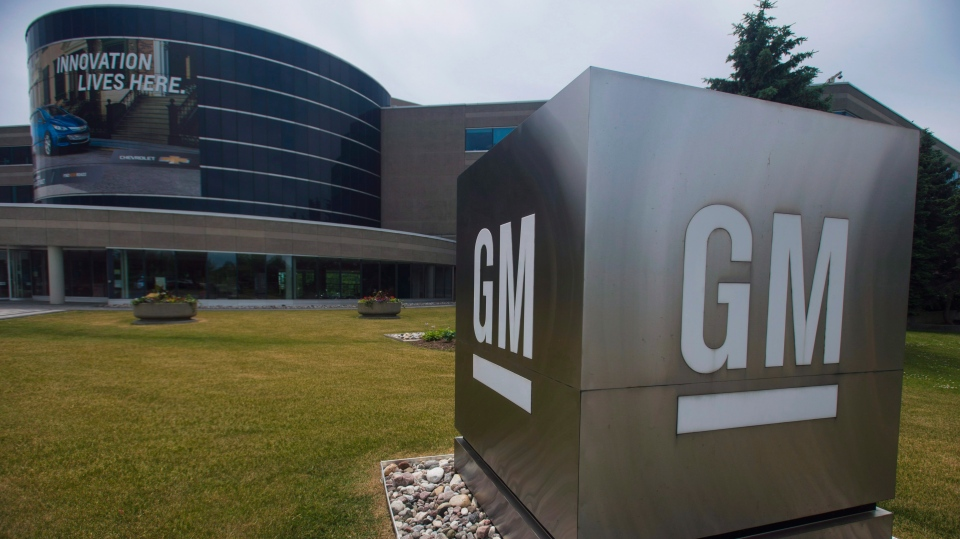 The General Motors Canada office in Oshawa, Ont., is photographed on Wednesday, June 20, 2018. THE CANADIAN PRESS/Tijana Martin