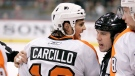 Philadelphia Flyers left wing Daniel Carcillo is restrained by referee Ian Walsh (29) in the first period against the Minnesota Wild during a preseason NHL hockey game in St. Paul, Minn., on September 25, 2010. Daniel Carcillo spoke out on Saturday night about his experience with hazing while a member of the OHL's Sarnia Sting, detailing how he feels Canada's hockey culture needs to change. THE CANADIAN PRESS/AP, Andy King
