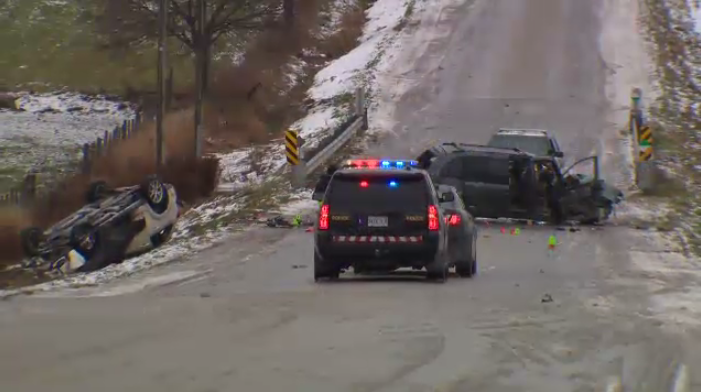Crash in North Wellington County sends one man to hospital with critical injuries.