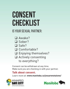Poster about consent