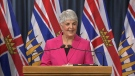 Finance Minister Carole James shares the second quarterly report on Monday, Nov. 26.
