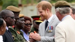 Britain's Prince Harry arrives at the Burma Barracks for a meeting with war veterans and widows in Lusaka, Tuesday, November 27, 2018. Prince Harry is on a State visit to Zambia at the request of the Commonwealth office and is expected to attend various events in the Southern African country. (AP Photo/Tsvangirayi Mukwazhi)