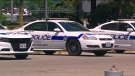 Peel police cruisers are seen in this file photo.