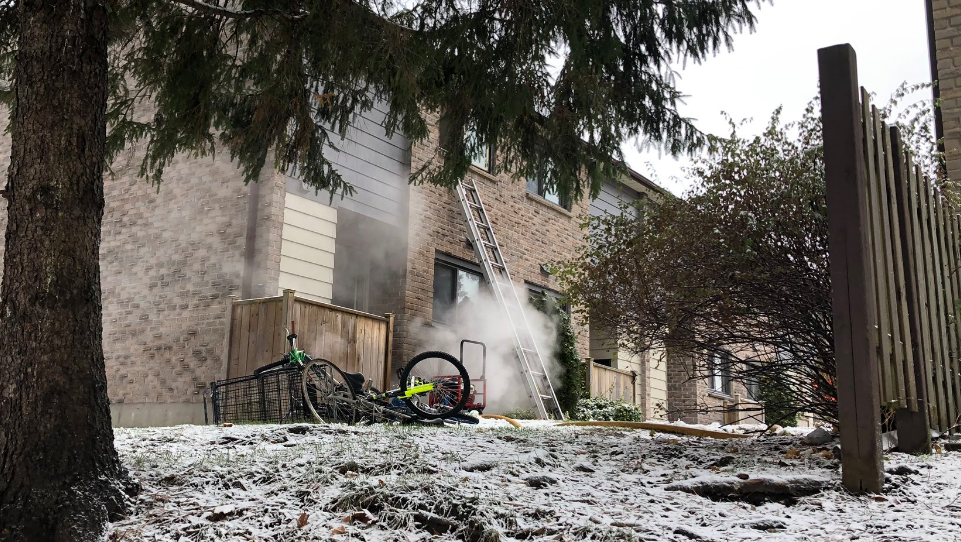 Fire on Summit Ave.