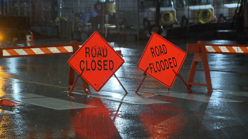 Crews responded to localized flooding in parts of Metro Vancouver Monday.