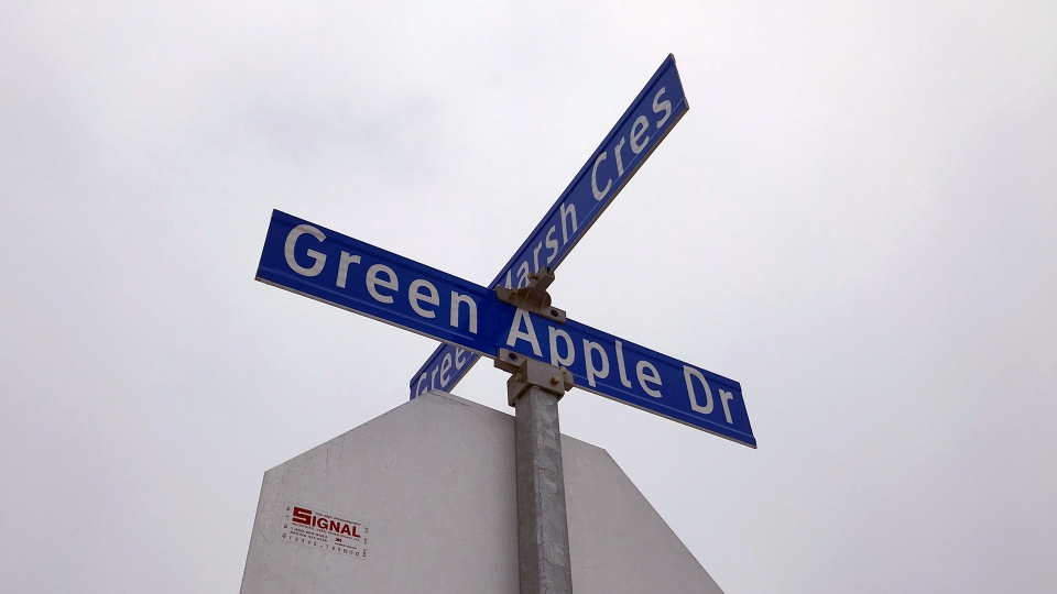 Green Apple Drive in east Regina. (CALLY STEPHANOW/CTV REGINA)