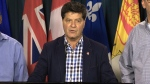 Unifor President Jerry Dias speaks