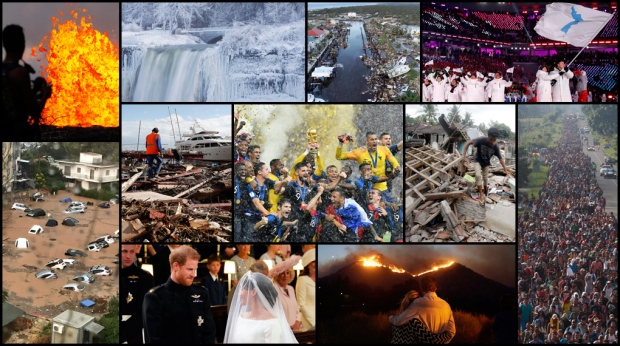 From natural disasters, political drama to royal engagements, here's a look at news events around the world in 2018.