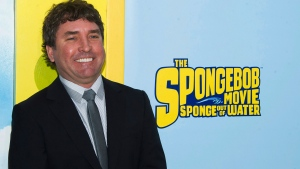"""In this Jan. 31, 2015 file photo, SpongeBob SquarePants creator Stephen Hillenburg attends the world premiere of """"The SpongeBob Movie: Sponge Out Of Water"""" in New York. Hillenburg died Monday, Nov. 26, 2018 of ALS. He was 57. (Photo by Charles Sykes/Invision/AP, File)"""