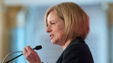 Alberta Premier Rachel Notley speaks in Ottawa
