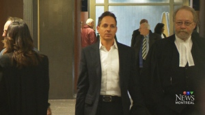 Yanai Elbaz walks through a Montreal courthouse after pleading guilty to accepting $10 million in bribes.