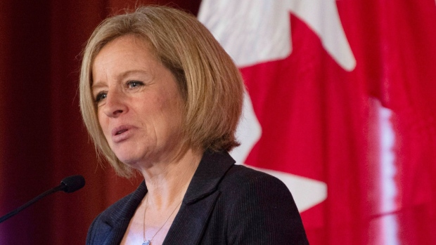 Alberta Premier Rachel Notley delivers a speech in Ottawa, Wednesday November 28, 2018. THE CANADIAN PRESS/Adrian Wyld