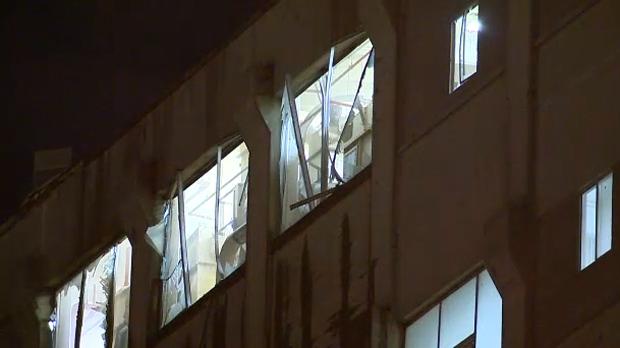 Damaged windows - ADM Milling Co explosion